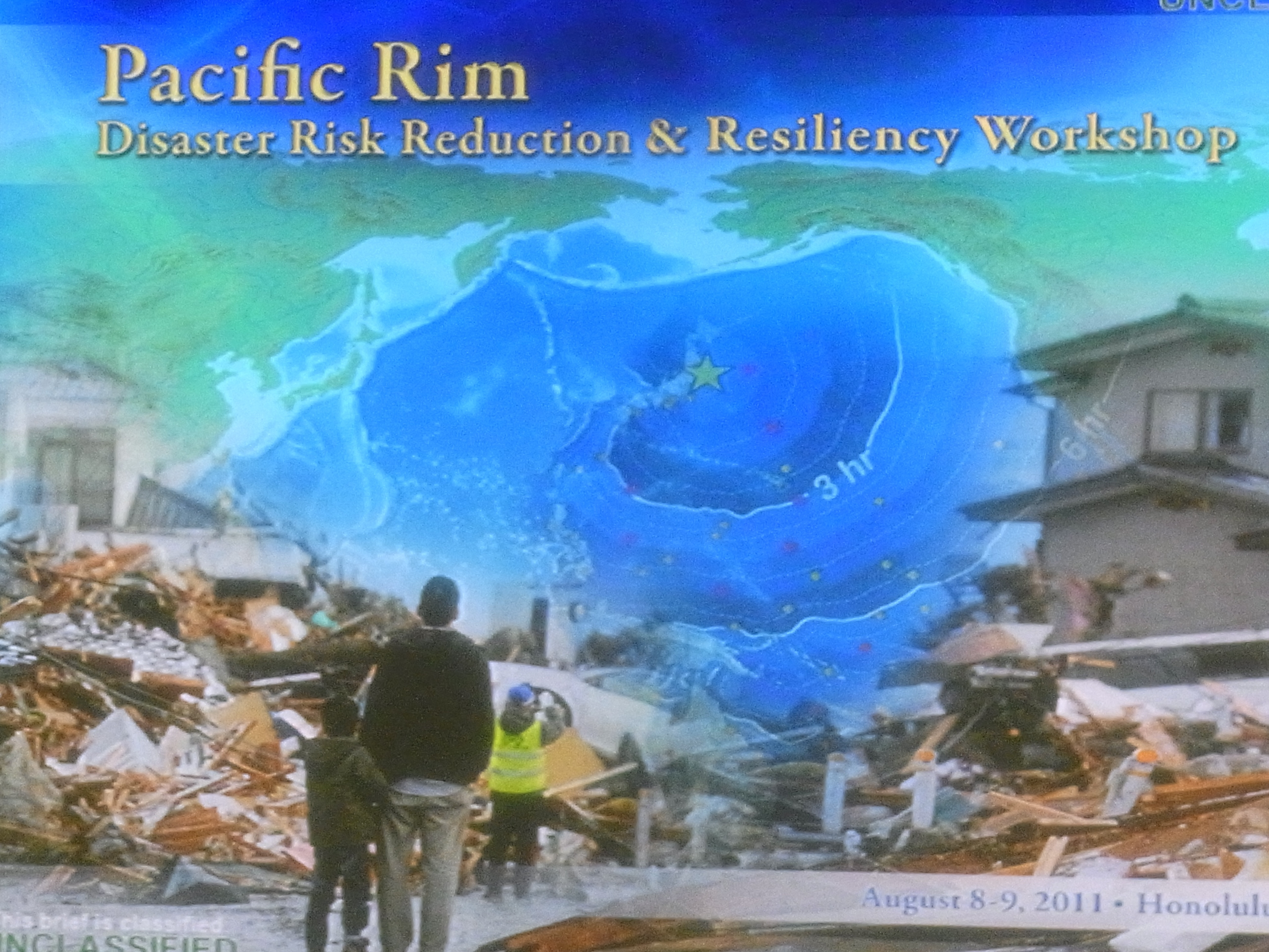 Pacific Rim Disaster Risk Reduction & Resiliency Workshop 参加報告