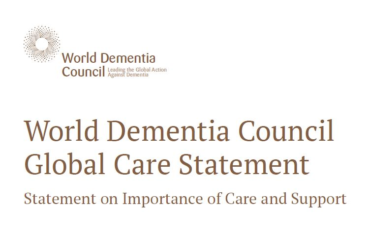 "(Report) The World Dementia Council's published work titled ""Global Care Statement"", touched on the importance of care and support for those affected by dementia and their families, has now been translated into Japanese. (July 20, 2017)"